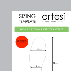 Sizing template